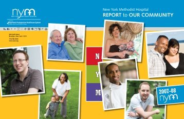 REPoRT to ouR communiTy - New York Methodist Hospital