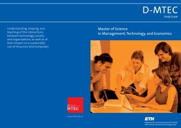 Study Guide - Department of Management, Technology, and ...
