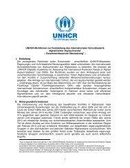 Richtlinien zur Feststellung des internationalen Schutzbedarfs - unhcr
