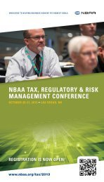 Review the 2013 Tax Conference Attendee Brochure - NBAA
