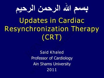 CRT Overview - February 2004 - cardioegypt2011
