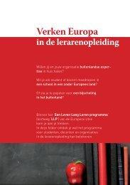 Verken Europa in de lerarenopleiding - Epos
