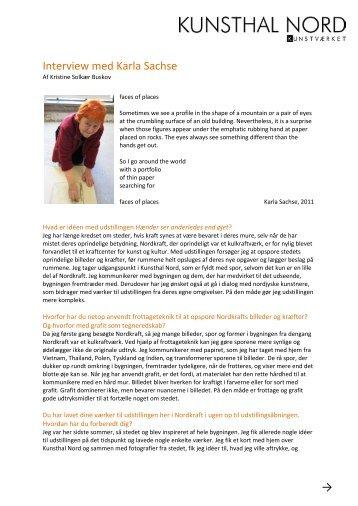 Læs interview med Karla Sachse her - Kunsthal Nord