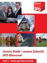 Das komplette Wahlprogramm zur Kommunalwahl ... - SPD Oberursel