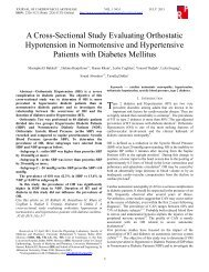 A Cross-Sectional Study Evaluating Orthostatic Hypotension in ...