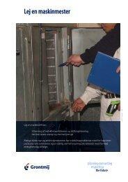 Læs mere i vores produktblad - Lej en maskinmester - Grontmij