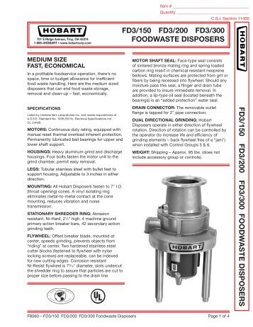 Hobart Fd3 150 Manual