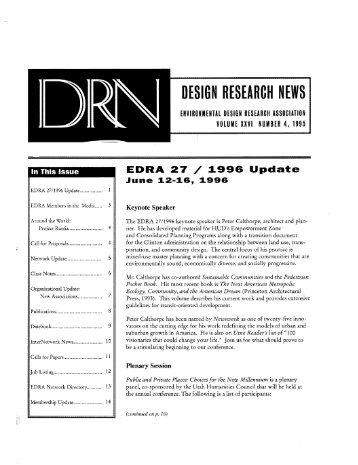 DRN 1995 Vol 26 n 4 - Environmental Design Research Association