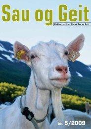 Nr. 5/2009 - Norsk Sau og Geit