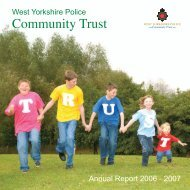 Download the 2006 - 2007 Annual Report - West Yorkshire Police