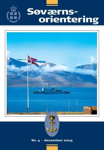 Søværnsorientering nr. 4 / 2003 - Marinehistorisk Selskab og ...