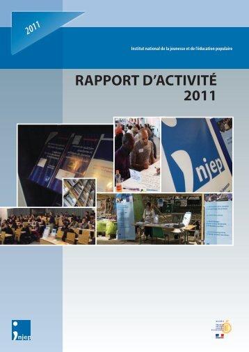 Téléchargez le rapport d'activité 2011 - Injep