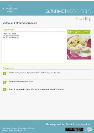 Melon and almond carpaccio - Sogrape Vinhos