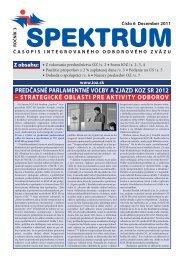 Spektrum číslo 6/2011 - Integrovaný odborový zväz