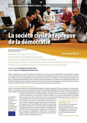 La société civile à l'épreuve de la démocratie - EU Neighbourhood ...