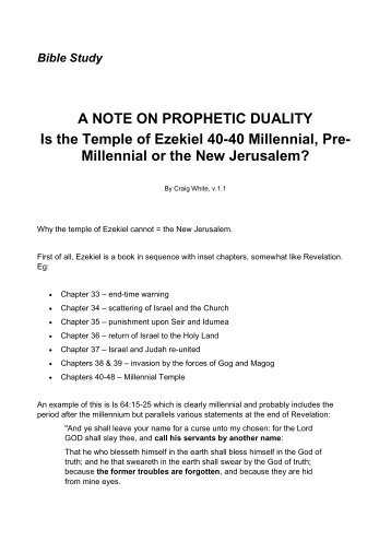 A NOTE ON PROPHETIC DUALITY Is the Temple ... - Origin of Nations