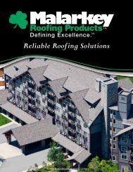 Reliable Roofing Solutions - Malarkey Roofing Products