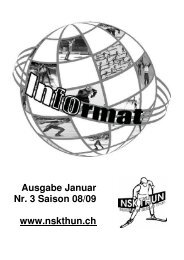 Heft Nr. 3 08/09 (PDF-File, 1.768Mb) - NSK Thun