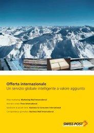 Un servizio globale intelligente a valore aggiunto - Swiss Post