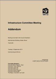 Infrastructure Committee Meeting Addendum - Townsville City Council