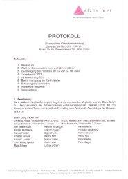 Protokoll Vereinsversammlung 2013 (PDF) - Alzheimervereinigung ...
