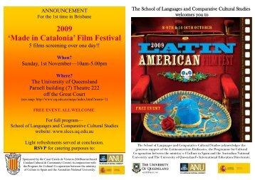 2009 'Made in Catalonia' Film Festival - School of Languages ...