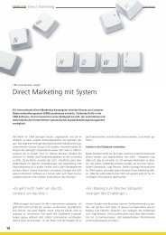 Competence - Direct Marketing mit System