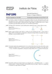 Lista de Exercıcios 1 Forças e Campos Elétricos - Plato