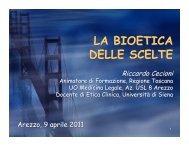 la bioetica delle scelte - ArezzoGiovani.it