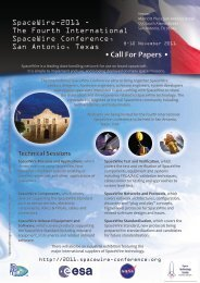 • Call For Papers • - International Spacewire Conference 2011