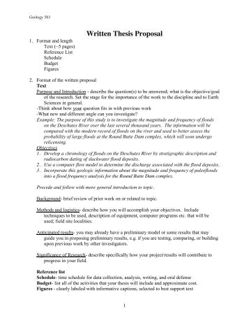 thesis proposal format