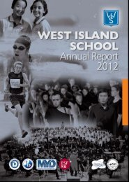 WIS Annual Report 2011-2012 - West Island School New Portal