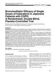 Bronchodilator Efficacy of Single Doses of Indacaterol in Japanese ...