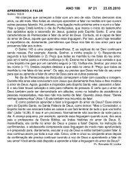 ANO 108 Nº 21 23.05.2010 - Comunidade Evangélica Luterana ...