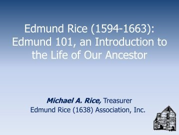 An Introduction to the Life of Edmund Rice - 2012