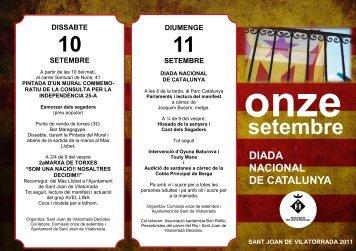 Agenda setembre 2011 - Sant Joan de Vilatorrada