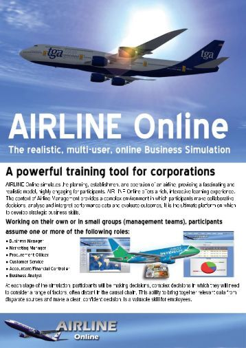 Download our PDF information pack - Simulate.aero