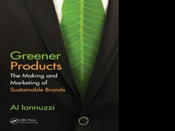 The Making and Marketing of Greener Products - Green Chemistry ...
