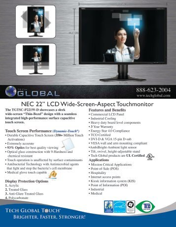 "NEC 22"" LCD Wide-Screen-Aspect Touchmonitor - Tech Global"