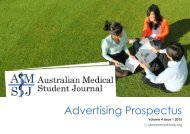 Advertising Prospectus - Australian Medical Student Journal