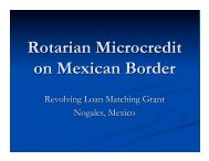 Rotarian Microcredit on Mexican Border - Rotary E-Club of ...