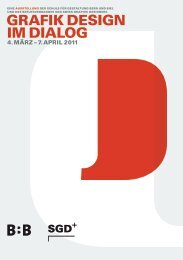 GRAFIK DESIGN IM DIALOG - SGD Swiss Graphic Designers