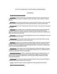 Statuto di Roma della Corte Penale Internazionale - CIRPAC