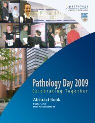 Abstract Book 2009 - Pathology and Laboratory Medicine
