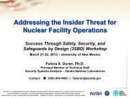 Addressing the Insider Threat for Nuclear Facility Operations