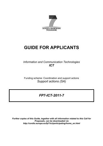 Guide for applicants (Coordination and Support Action ... - ideal-ist