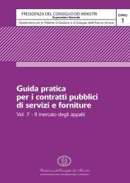 Guida pratica per i contratti pubblici di servizi e ... - Governo Italiano