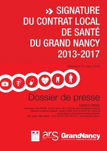"""Dossier de presse """"Signature du premier contrat ... - ARS Lorraine"""