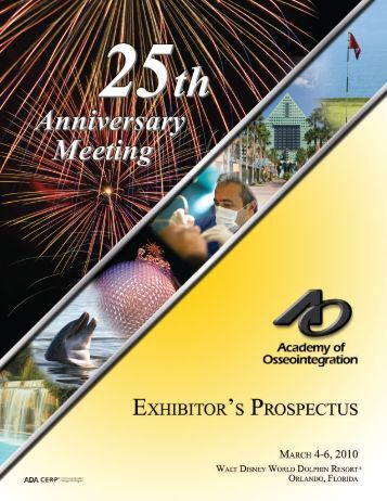 download the 2010 Exhibitor Prospectus - Academy of ...
