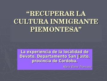 Recuperar la cultura · Descargar PDF - Maria Elena Troncoso
